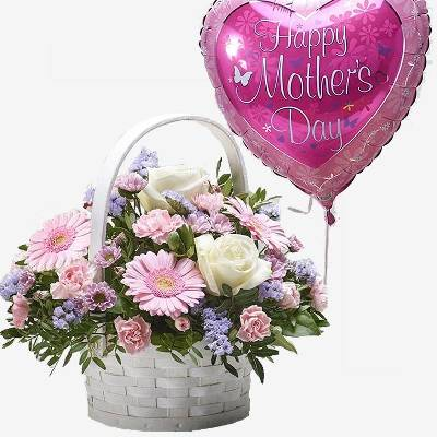 Mothers Day Basket with Balloon