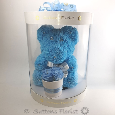 Luxury Blue Bear & Eternity