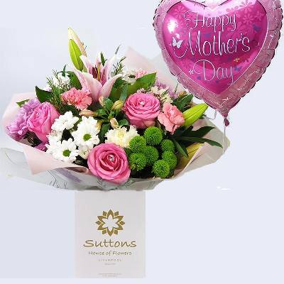 Handtied with Mothers Day Balloon