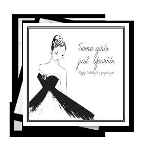 Some Girls Just Sparkle Greetings Card
