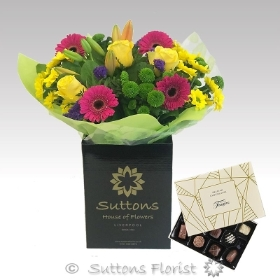 Colour Your Day Hand Tied with Chocs