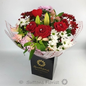 Be My Valentine Hand Tied