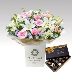 Country Garden Handtied with Chocs