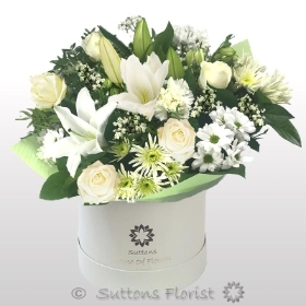 Large Mothers Day White Hatbox