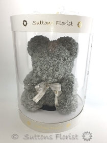 Luxury Grey Rose Bear