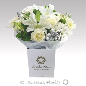 Twinkling Whites Handtied